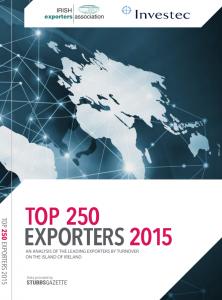 Top 250 Exporters in Ireland and Northern Ireland 2015