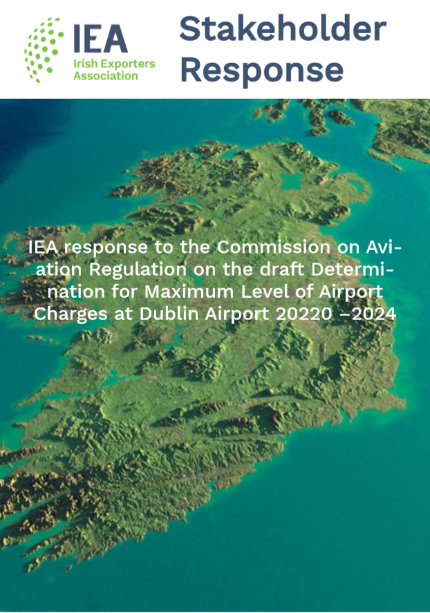 IEA response to the CAR on the draft Determination for the Maximum Level of Airport Charges at Dublin Airport 2020-2024