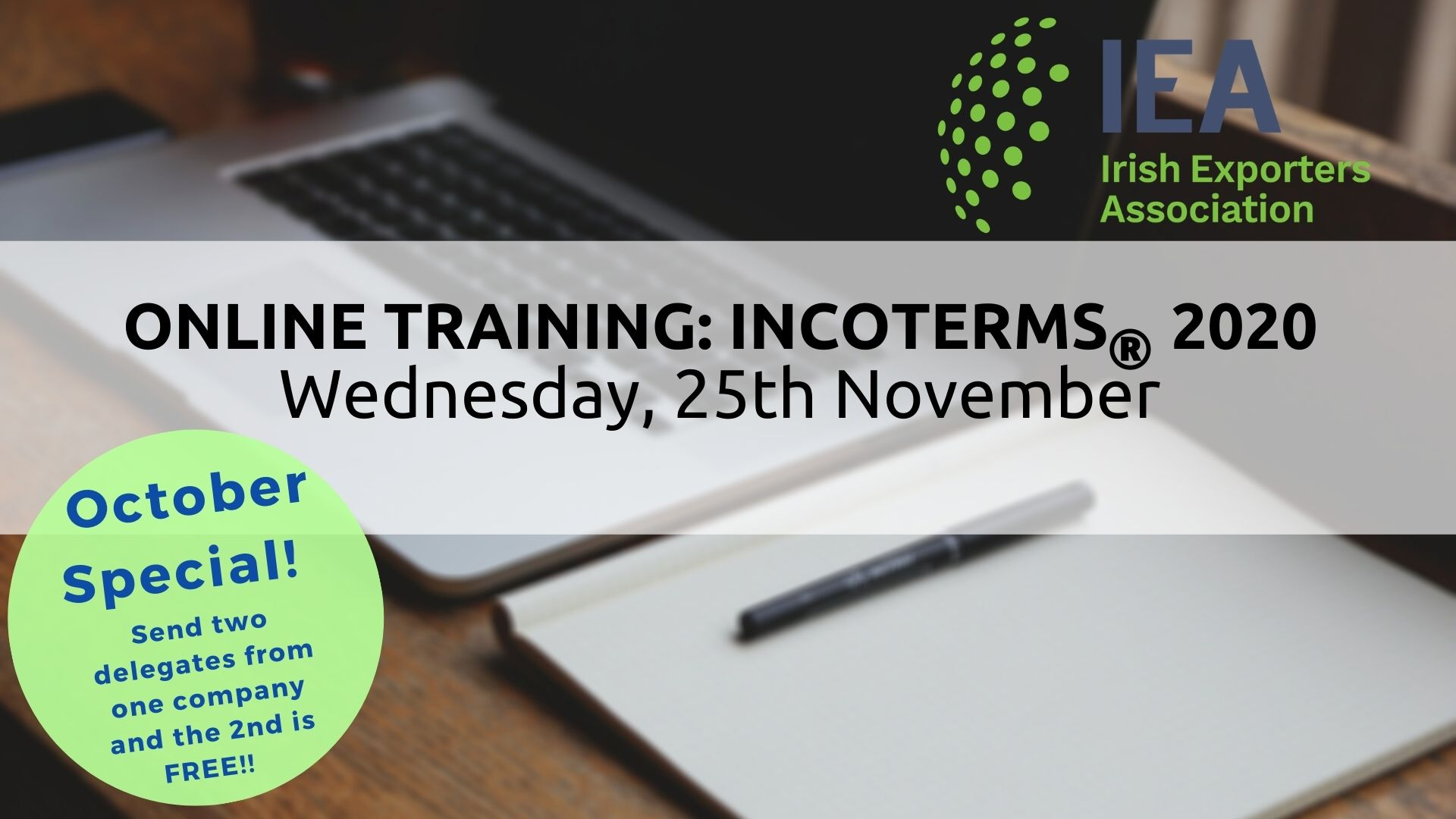 New Incoterms 2020 Training | 25th November