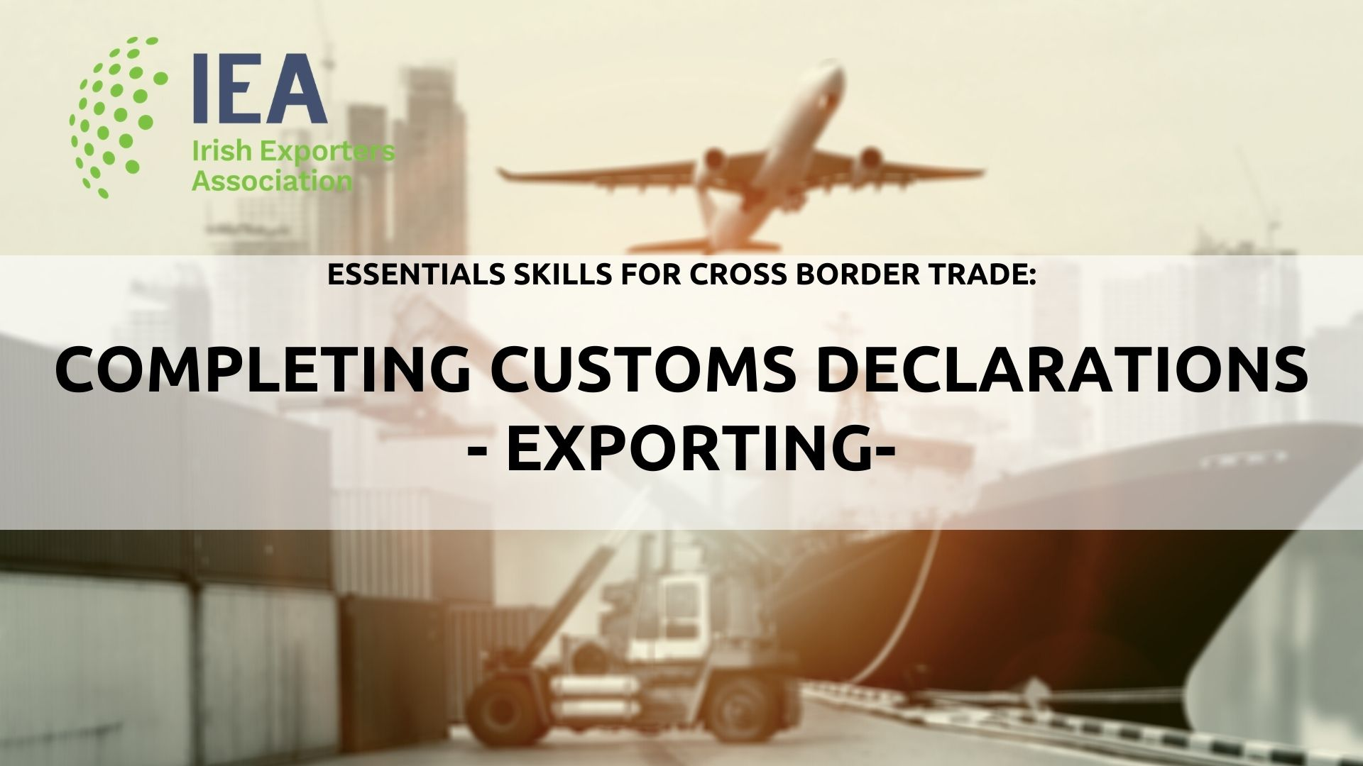 Completing Customs Declarations 2 (Exports)