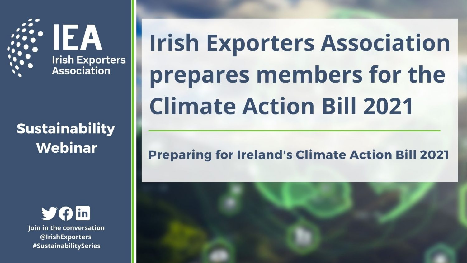 Irish Exporters Association prepares members for the Climate Action Bill 2021
