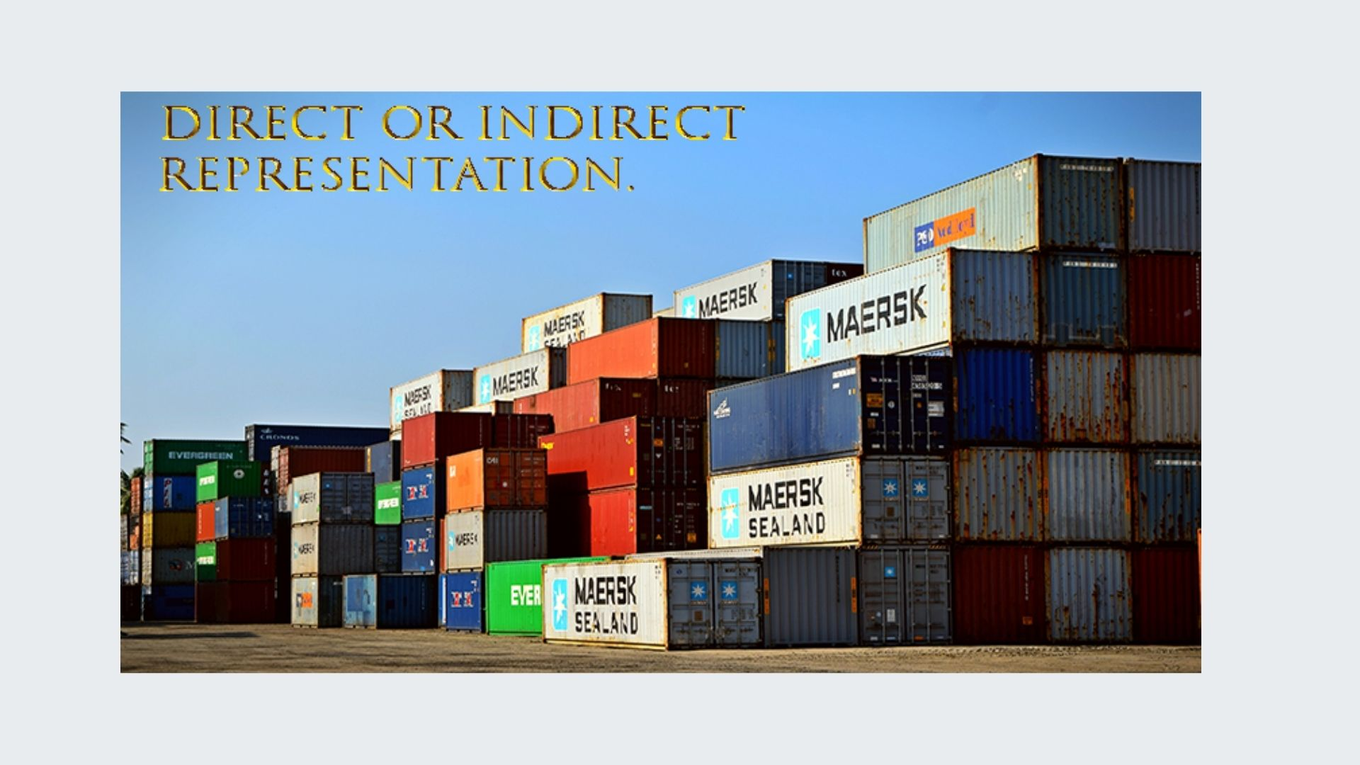 Indirect RepresentationProblems – the Custran Solution