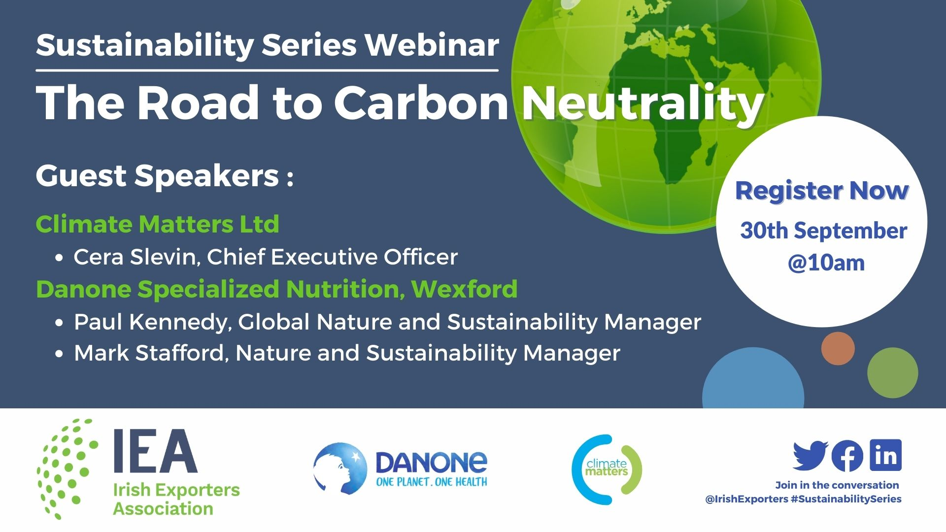 Sustainability Webinar: The Road to Carbon Neutrality